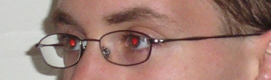 Photograph with red-eye effect